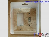 Beige Marble Switch Plate - Toggle + Decora