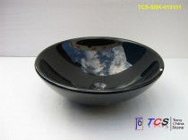 Shanxi Black granite round sink TCS-SNK-010101