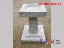 TCS-BBH-001101 Bird Bath G603 silver grey granite