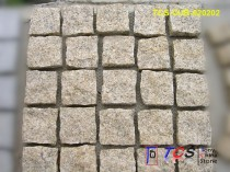TCS-CUB-020202 Yellow Granite Cubes on Mesh