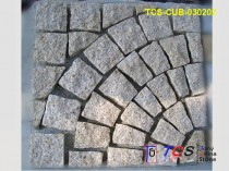 TCS-CUB-030202 Yellow Granite Cubes Quadrant on Mesh