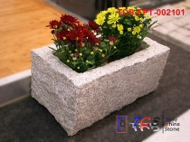 TCS-FPT-002101 Flowerpot Planter G603 silver grey granite rock side