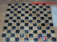 TCS-MSG-0201116+17 Granite Mosaic 23mm Blue Pearl  Kashmir Gold