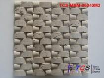 TCS-MSM-06040M3 Marble Mosaic 3D Weave Beige Travertine