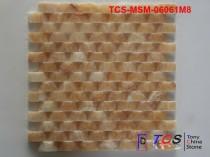 TCS-MSM-06061M8 Marble Mosaic 3D Honey Onyx