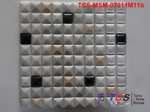 TCS-MSM-07011M11b Marble Mosaic 3D Mixed colors