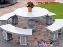 TCS-TBL-002101 Table + Bench G603 Silver Grey Granite