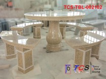 TCS-TBL-002102 Table + Bench G682 Yellow Granite