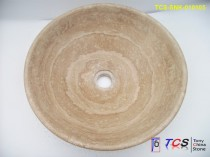 Coffee travertine round sink TCS-SNK-010105