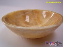 Honey Onyx marble round sink TCS-SNK-010104